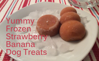 Strawberry Banana Frozen Dog Treats