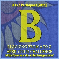 "A to Z Challenge ""B"" Badge"