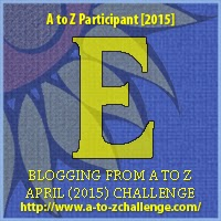 "2015 A to Z Challenge Badge ""E"""