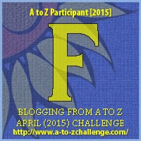 "A to Z Challenge Badge ""F"""