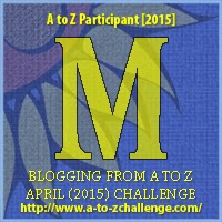 A to Z Challenge badge M