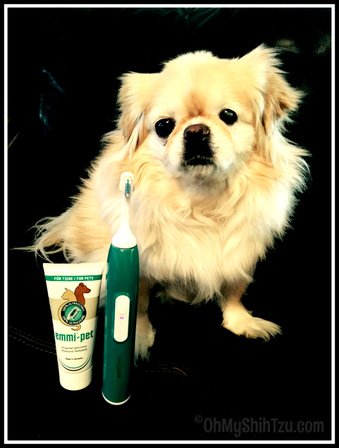 Emmi-Pet Ultrasonic Dog Toothbrush - Oh My Shih Tzu