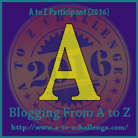 """A"" Badge Puppy A to Z Challenge"