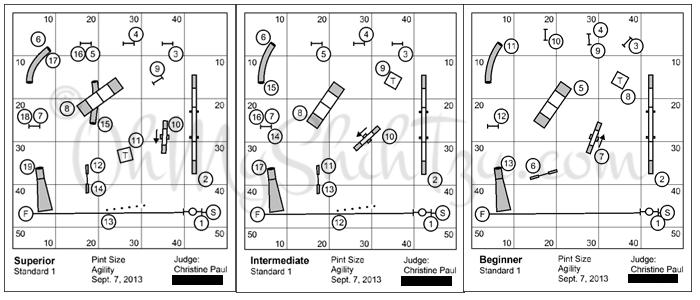 Agilty Trial Courses Maps