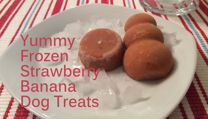 Strawberry Frozen Banand Dog Treat