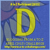 "A to Z Challenge Badge ""D"""