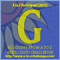 "2015 A to Z Challenge Badge ""G"""