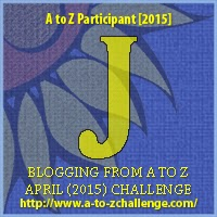 "A to Z Challenge ""J"" Badge"