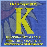 """A to Z Challenge Badge """"K"""""""