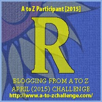 "A to Z Challenge Badge ""R"""